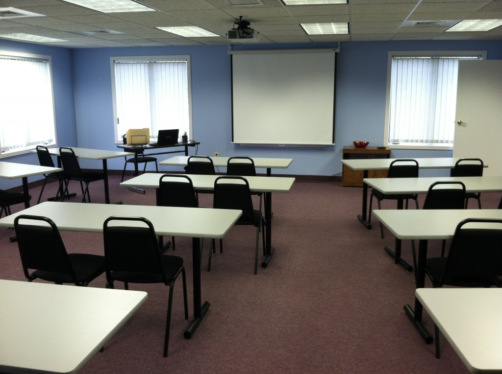 This Classroom hold 24 - 30 students for training