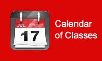 Calendar of Classes